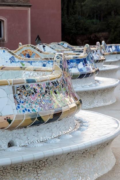 Famoso park guell situato a barcellona, in spagna. Foto Premium