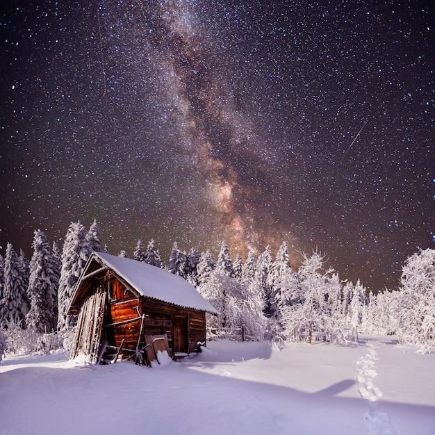 Fantastico paesaggio invernale. Foto Premium