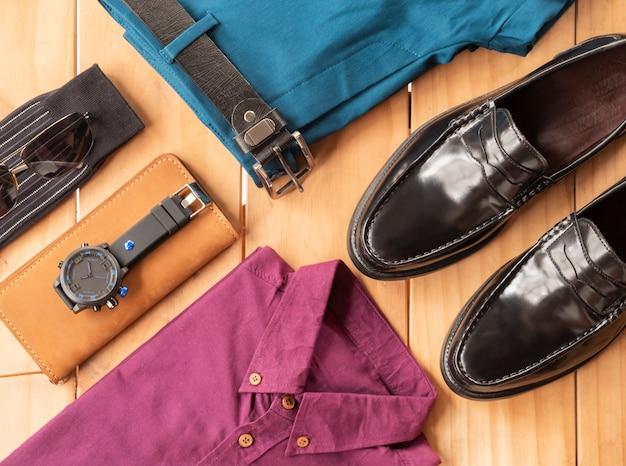 Fashion design creativo per set di abbigliamento casual da uomo Foto Premium