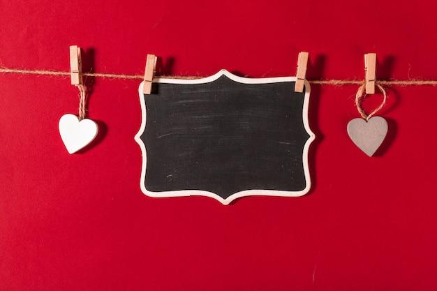 Felice giorno di san valentino sfondo Foto Premium