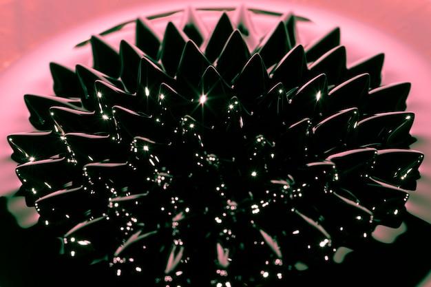 Fenomeno del fluido ferromagnetico ad alta vista Foto Gratuite
