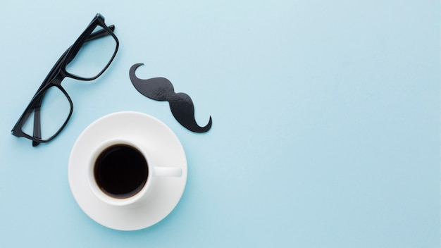 Festa del papà con una tazza di caffè Foto Gratuite