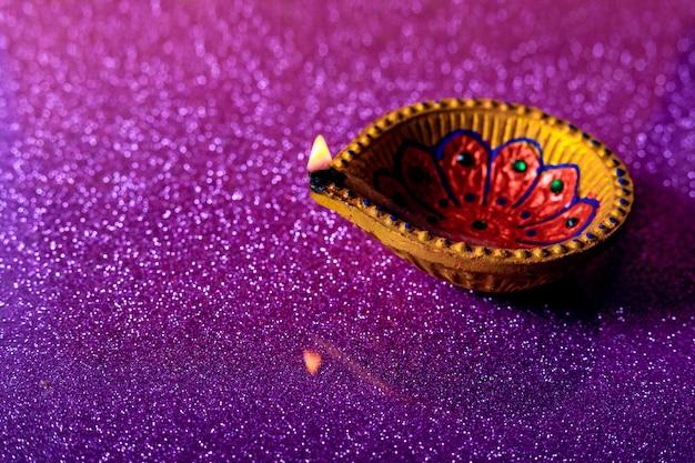 Festival indiano diwali, lampada diwali Foto Premium