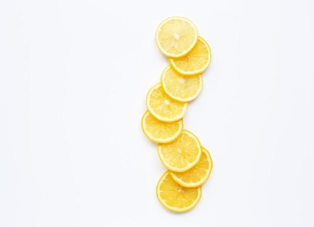 Fette di limone fresco Foto Premium