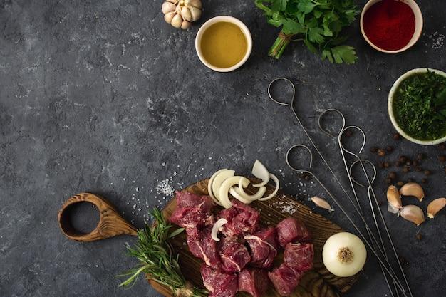 Filetto di manzo affettato con verdure Foto Premium