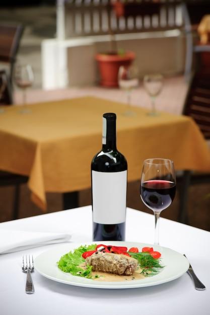 Filletto al pepe verde e vino Foto Premium