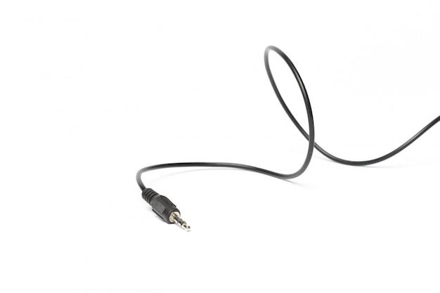 Filo aux nero isolato su bianco Foto Premium