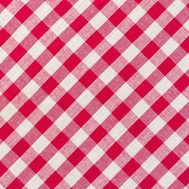 Fine a quadretti bianca e rossa della priorità bassa in su Foto Premium