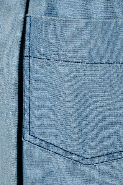 Fine blu chiaro della tasca del denim su Foto Gratuite