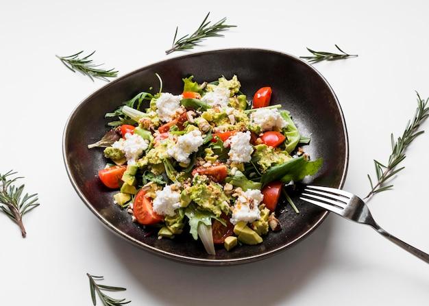 Fine deliziosa dell'insalata gastronomica su Foto Gratuite