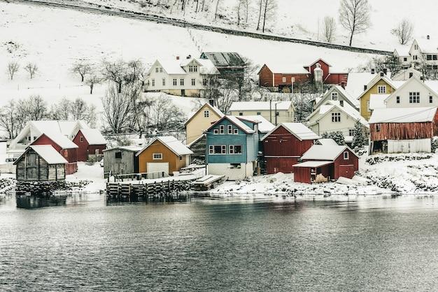 Fiordi norvegesi Foto Premium