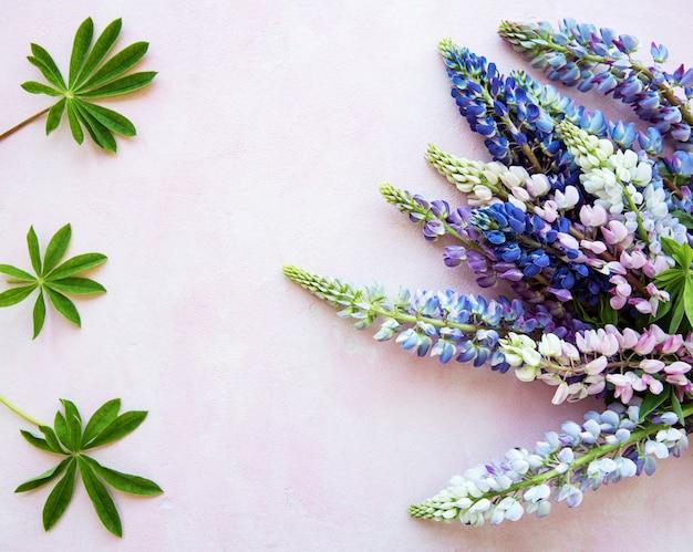 Fiori di lupino rosa e viola Foto Premium