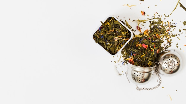 Foglie di tè e strumenti Foto Gratuite