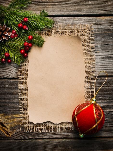 Foglio bianco per i saluti di capodanno Foto Premium