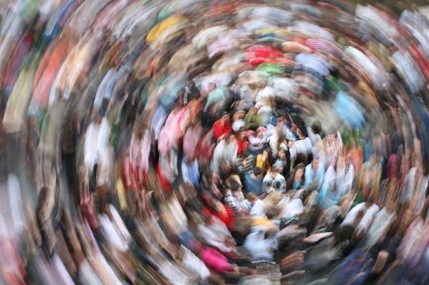 Folla in movimento scaricare foto gratis