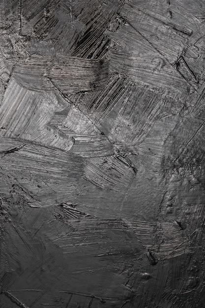 Fondo artistico di struttura della pittura nera Foto Gratuite