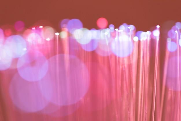 Fondo astratto delle luci di fibre ottiche Foto Gratuite