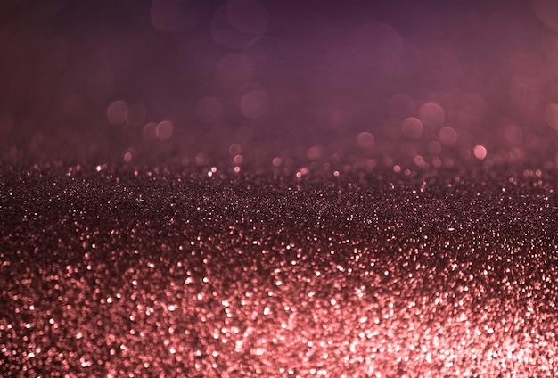 Fondo del bokeh dell'estratto viola dell'oro di rosa Foto Premium