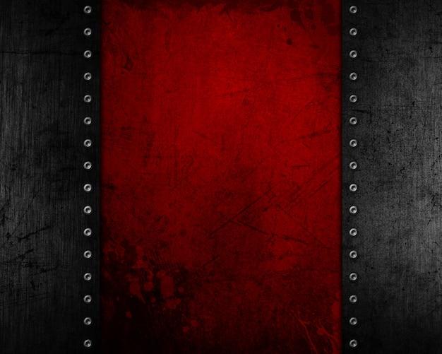 Fondo del metallo di lerciume con struttura afflitta rossa Foto Gratuite
