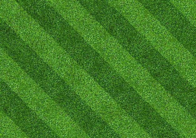 Fondo del modello del campo di erba verde per calcio e calcio. Foto Premium