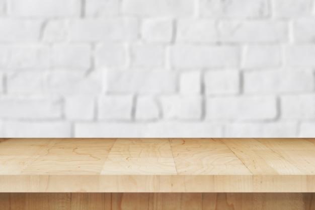 Fondo del prodotto del muro di mattoni bianco Foto Gratuite