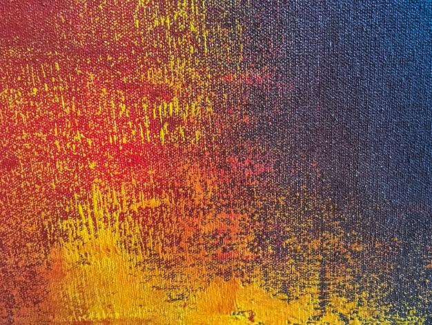 Fondo di arte astratta con i colori arancio e blu navy Foto Premium