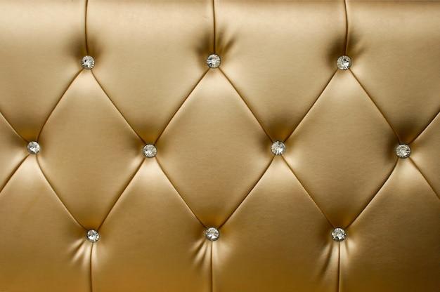 Fondo di cuoio dorato di lusso del primo piano Foto Premium