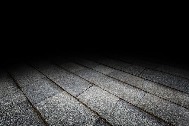 Fondo di prospettiva di struttura del pavimento non tappezzato per esposizione o il montaggio del prodotto Foto Premium