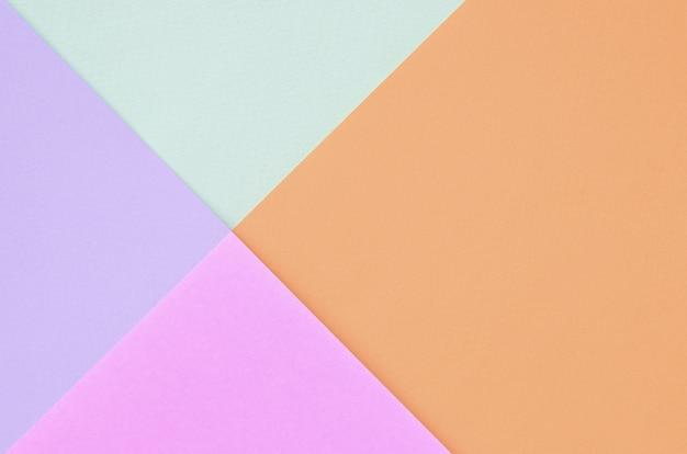 Fondo di struttura dei colori pastelli di modo. rosa, viola, arancione e blu Foto Premium