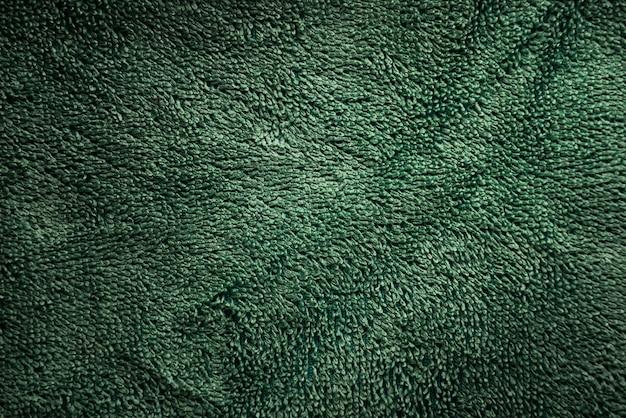 Fondo di struttura del tessuto di colore verde Foto Premium