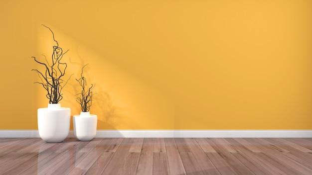 Fondo domestico fresco semplice giallo dell'europa settentrionale Foto Premium