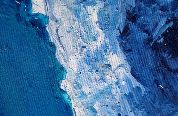 Fondo e struttura astratti naturali della pittura blu. Foto Premium