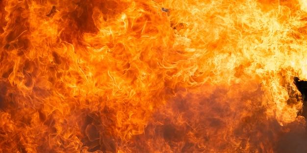Fondo ed estratto ardenti della fiamma del fuoco Foto Premium