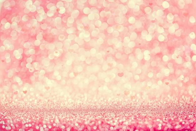Fondo glitterato rosa del bokeh del partito. Foto Premium