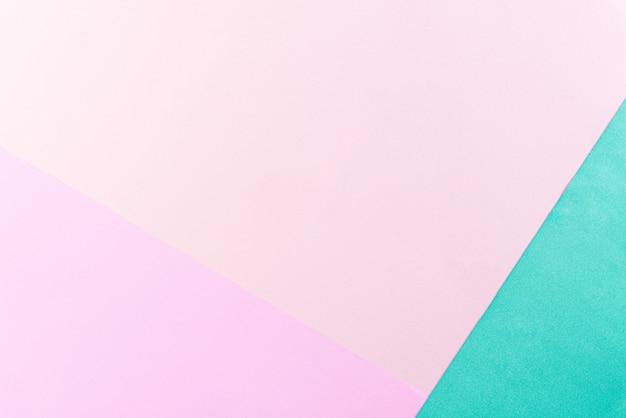 Fondo luminoso della carta di colore pastello con lo spazio della copia per il concetto di estate. disteso. Foto Premium
