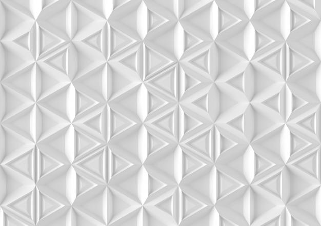 Fondo parametrico basato sulla griglia triangolare con il modello differente dell'illustrazione differente del volume 3d Foto Premium