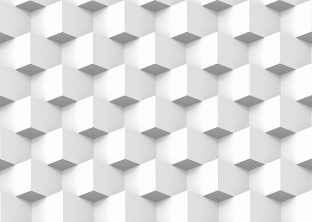 Fondo quadrato moderno di progettazione della parete del modello dello stack di griglia della scatola quadrata. Foto Premium