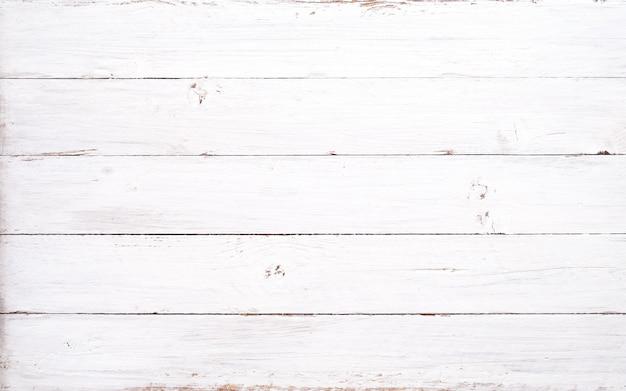 Fondo rustico della plancia di legno bianca. stile vintage Foto Premium