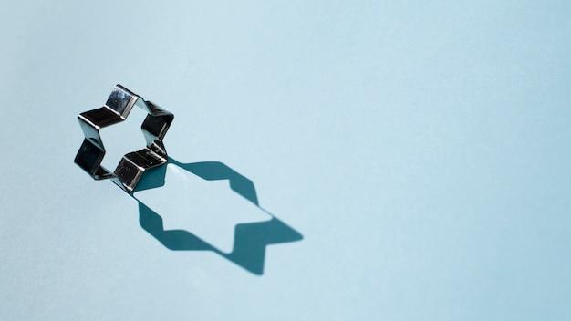 Forma ebraica di stella con ombra Foto Gratuite
