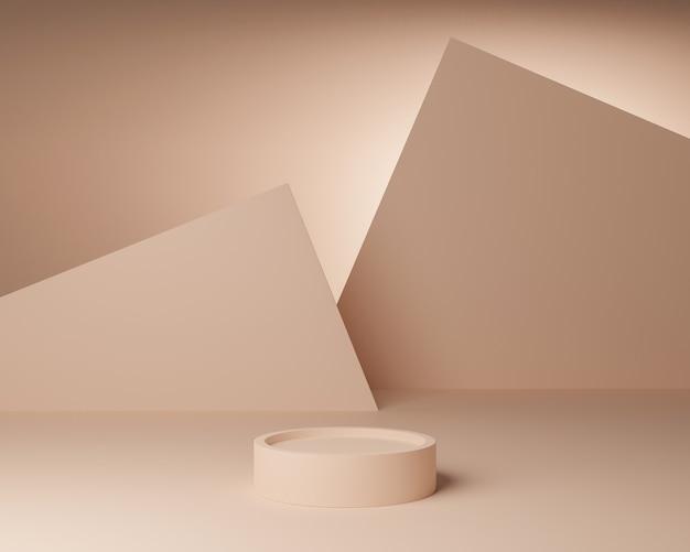 Forma geometrica astratta con stile minimal e colore pastello.utilizzare per presentazioni di prodotti cosmetici o. rendering 3d e illustrazione. Foto Premium