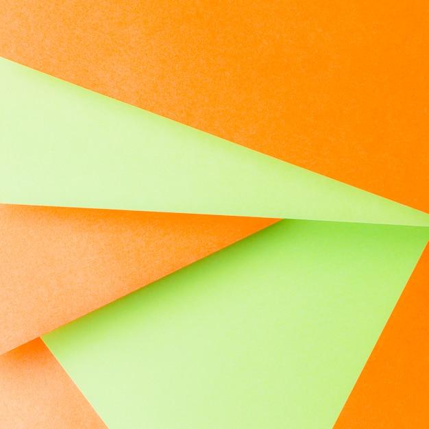 Forme Geometriche Realizzate Con Uno Sfondo Arancione E Verde