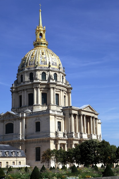 Foto ad alta risoluzione dell'ospedale e della chiesa di les invalides a parigi Foto Gratuite