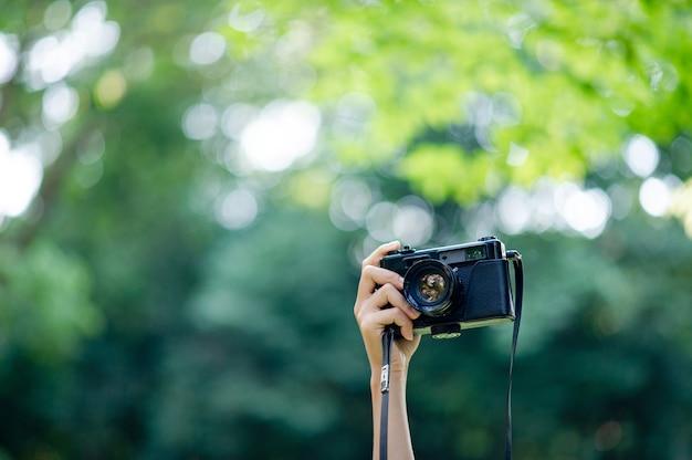 Fotografo e macchina fotografica Foto Premium