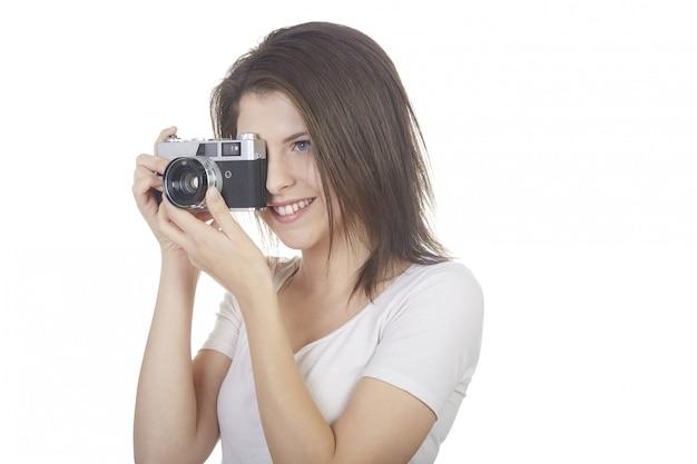 Fotografo piuttosto femminile Foto Premium
