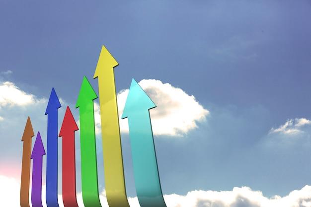 Frecce colorate verso l'alto Foto Premium