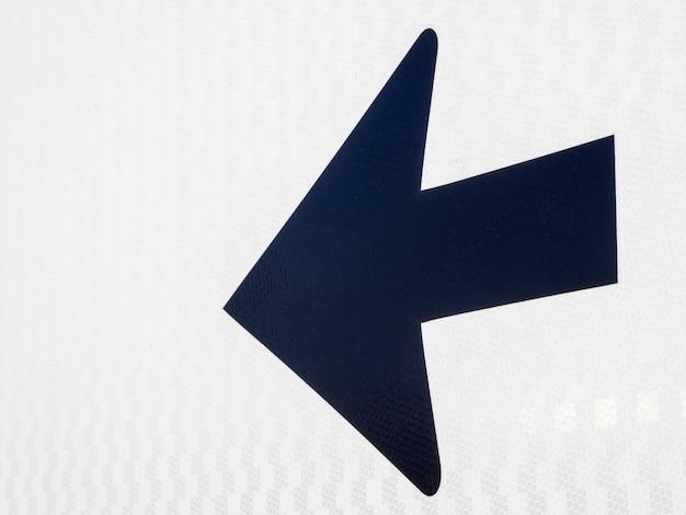 Freccia nera che punta a sinistra Foto Gratuite