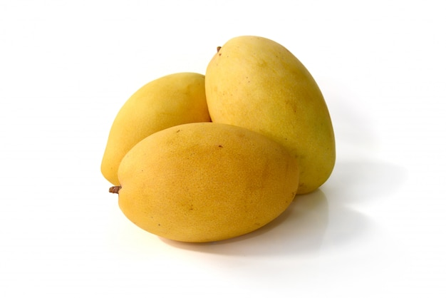 Frutta del mango isolata su fondo bianco Foto Premium