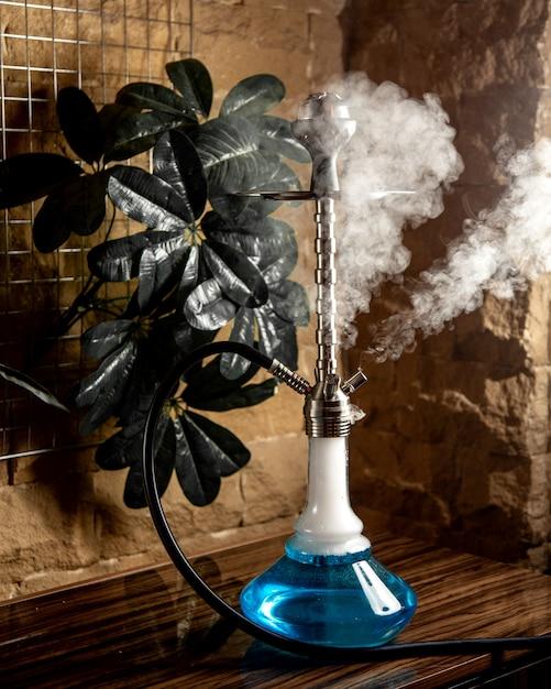 Fumante meduza narghilè vista laterale Foto Gratuite