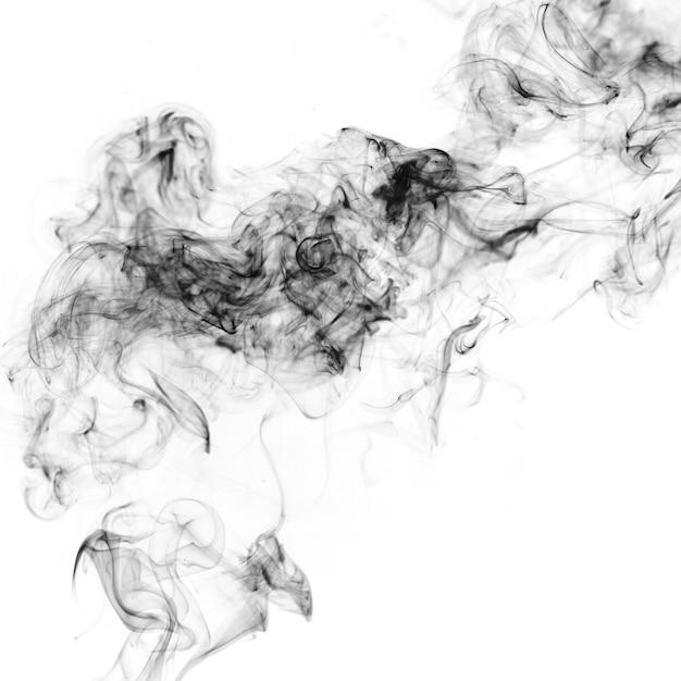 Fumi nero su sfondo bianco Foto Gratuite