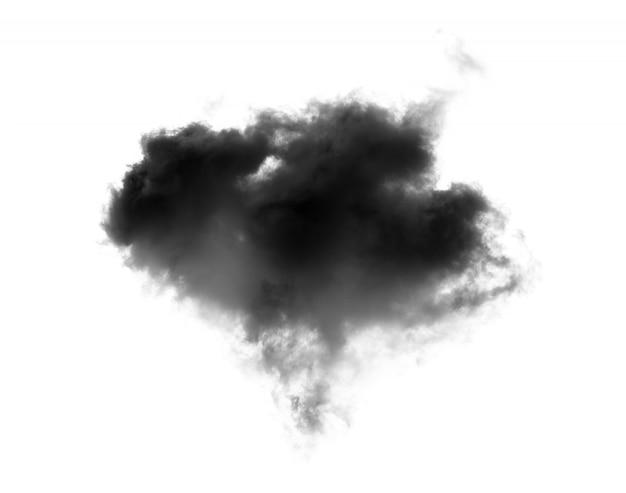 Fumo nero su un muro bianco Foto Premium
